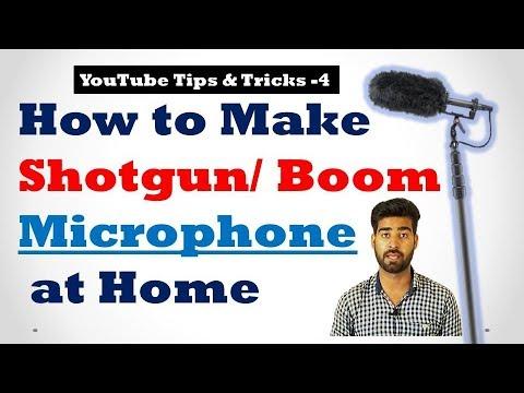 How to Make a Shotgun/ Boom Microphone at Home, YTT-4