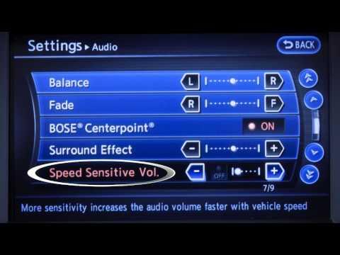 2013 Infiniti G Sedan - Audio System with Navigation