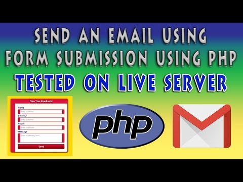 Send An Email On Form Submission Using PHP | Contact Form Using HTML5 & CSS3 | Part 2