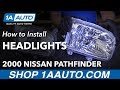 How to Replace Headlights 00-04 Nissan Pathfinder