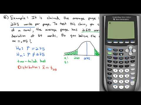3.6 Hypothesis Testing with a Mean
