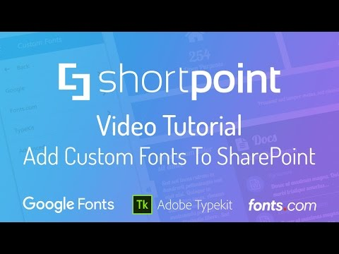Add Custom Fonts to SharePoint Sites