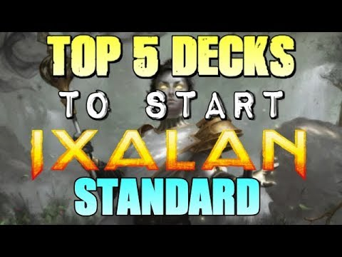 Mtg: Top 5 Decks to Start Ixalan Standard!