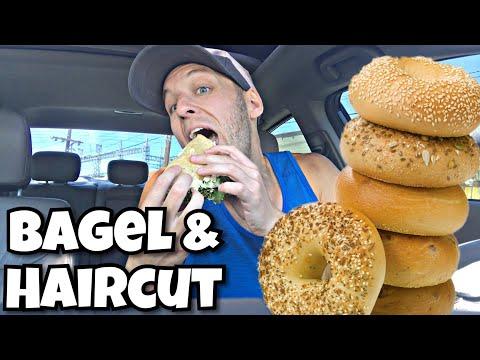 Haircut Vlog and Bagel Mukbang! 🥪