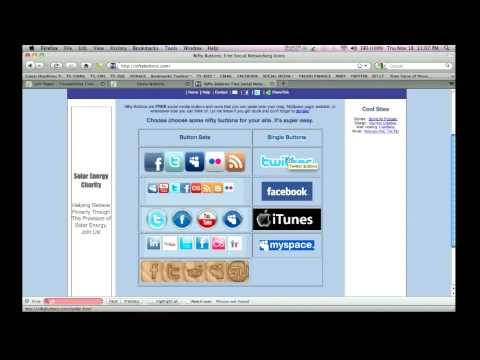 Part 5 -  Adding Facebook & Twitter Icons To Website