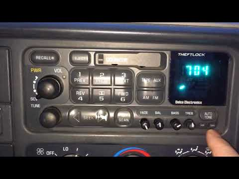How To Change The Time On An Old GM AC Delco Car Stereo