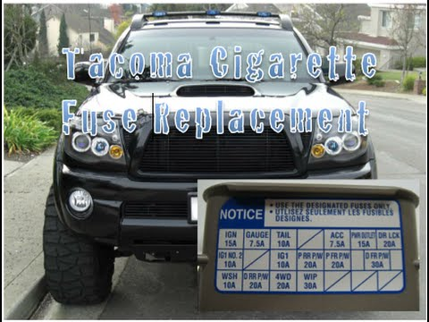 Toyota Tacoma Cigarette Fuse Replacement Year 2004-2009