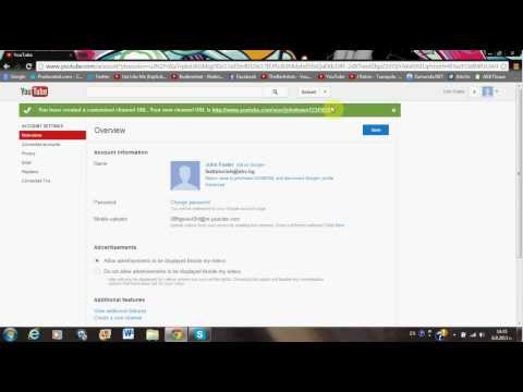 How To Change Your YouTube Channel's URL !