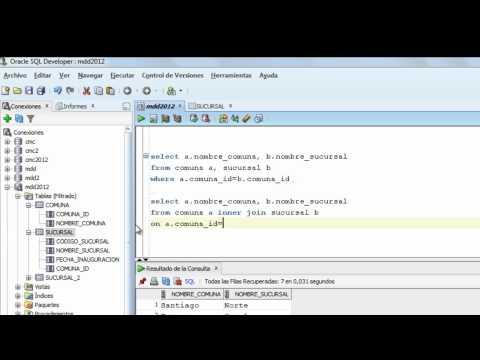 Ejemplo simple de SELECT con JOIN de tablas