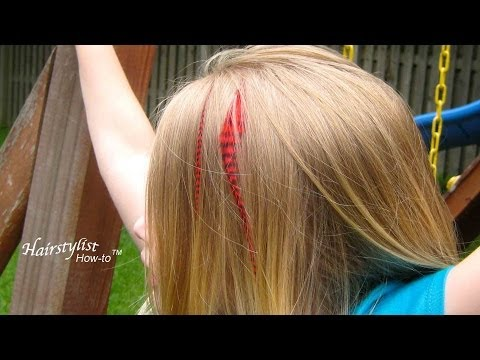 How to Apply Your Own Feather Hair Extensions