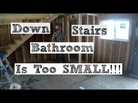 DIY Home Build: DownStairs Bathroom Is SMALL!!! (Finished Stairs)