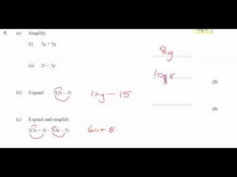 11x-Ma3 - Homework - Simplifying Expressions - Q5