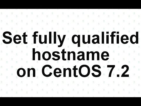set fully qualified hostname on CentOS 7