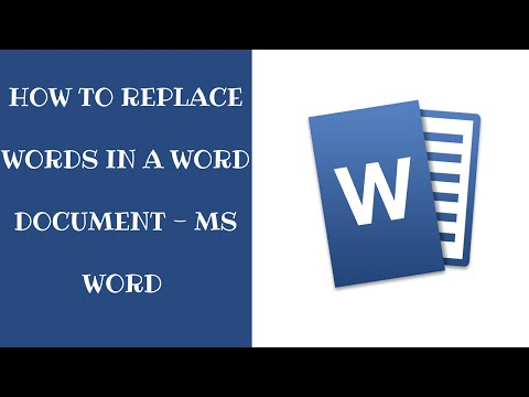 Replace words in a word document - Easiest Way