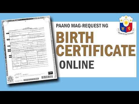 PAANO MAG-REQUEST NG BIRTH CERTIFICATE GAMIT ANG INTERNET O ONLINE / HOW TO GET A BIRTH CERTIFICATE