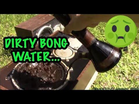 NASTY Bong Water On A Speaker (+ Bong Smash)