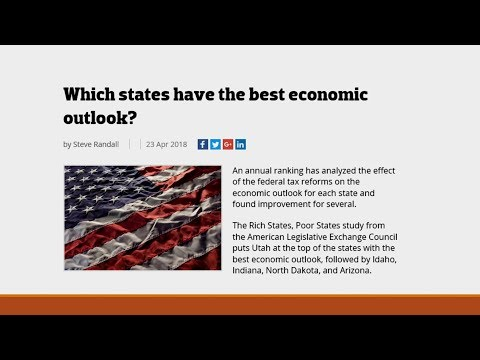 Which States Nationwide Have the Best Economic Outlook?