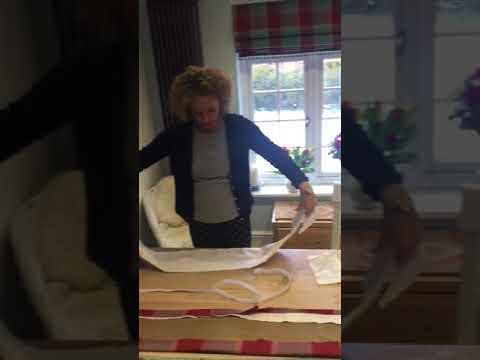 How to make a buckram pelmet part 1
