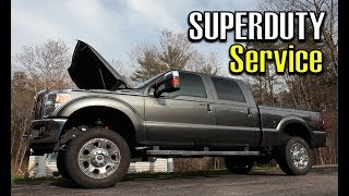 F Oil Filter Change Vlog  Ford F  Lariat Fx Kn Air Filter Cleaning Oiling