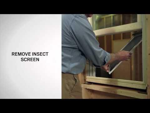 Half Insect Screen Replacement on Andersen® 400 Series Tilt-Wash Windows