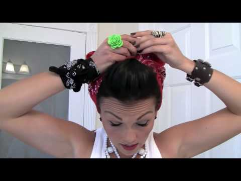 Pin-Up Hair Do - Rosie the Riveter Bandana | Kandee Johnson