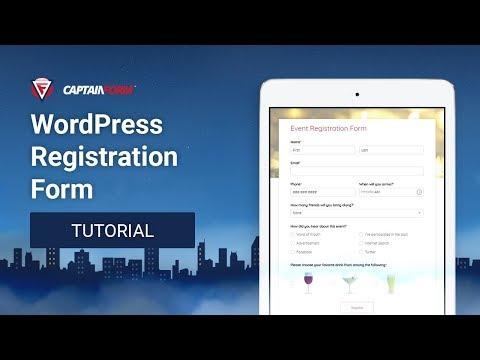 CaptainForm - WordPress Registration Form Tutorial