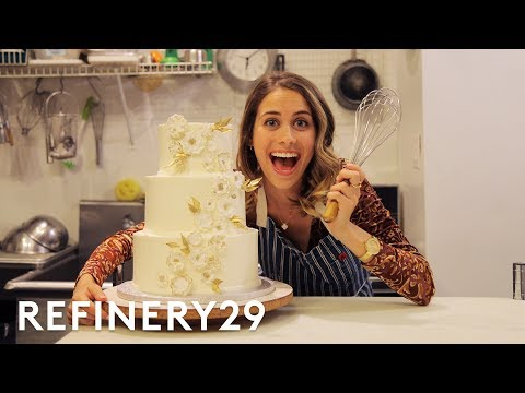 Lucie Fink Tries Out Wedding Cake Decorating For A Day | Lucie For Hire | Refinery29