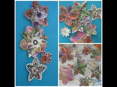 how to make Magazine  paper flowers/How to make Doddle Flowers/Handmade magazine flower