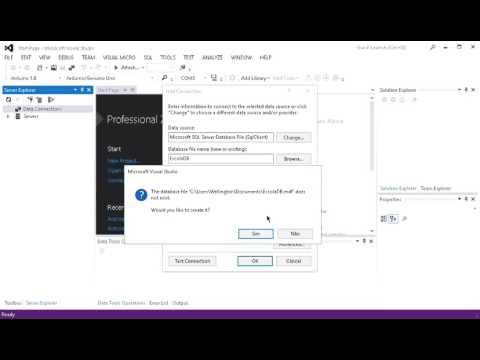 Criando arquivo de banco de dados no Visual C#