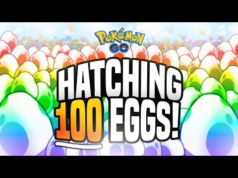 Pokemon Go - Hatching 100 EGGS! (MASSIVE Pokemon Go Egg Hatching!)