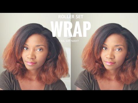 FAIL OR NAH?    Roller Wrap Set Natural Hair