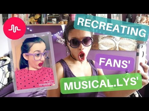 Recreating my Fans' Musical.ly videos!!