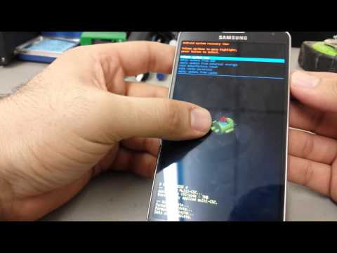How to Remove Password or Code From Samsung Galaxy Note 3 Hard Reset
