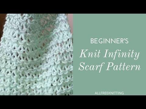 Beginner's Knit Infinity Scarf Tutorial
