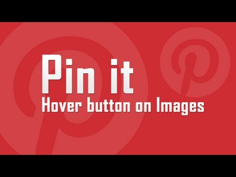 Add Pinterest hover button on Images in WordPress