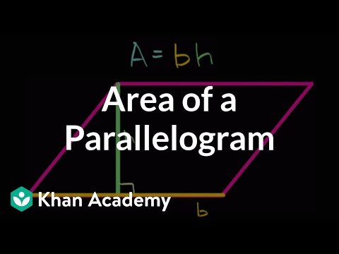 Area of parallelograms intuition | Algebra I | High School Math | Khan Academy