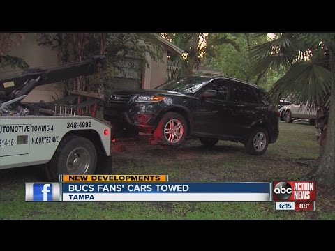 Bucs fans towed after falling for parking scam
