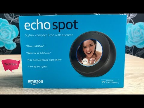 Amazon Echo Spot Unboxing Setup and First Impressions
