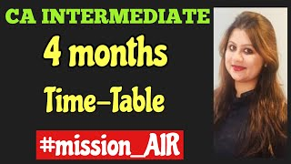 How to study for CA exams|Let us crush May 2020 with right approach|CA inter time table