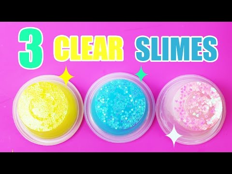 How To Make Clear Slime! SUPER EASY Glitter Slime DIY!!!