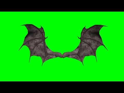3d animated demon wings   greenscreen effects