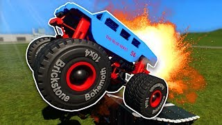 MONSTER TRUCK STUNTS! - Brick Rigs Multiplayer Gameplay - Lego Stunts & Jumps