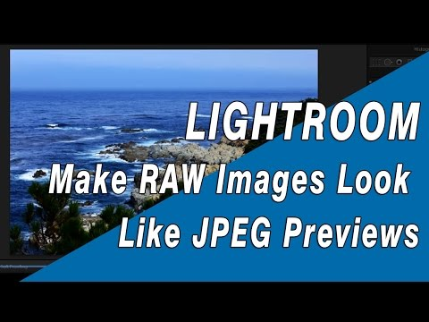Lightroom: How to Make RAW Images Look More Like JPEG Previews