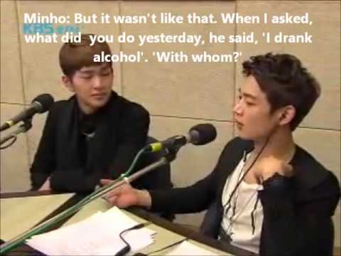 [ENG SUB] SHINee - Minho and Key argue about Onew drinking alcohol alone (cut)