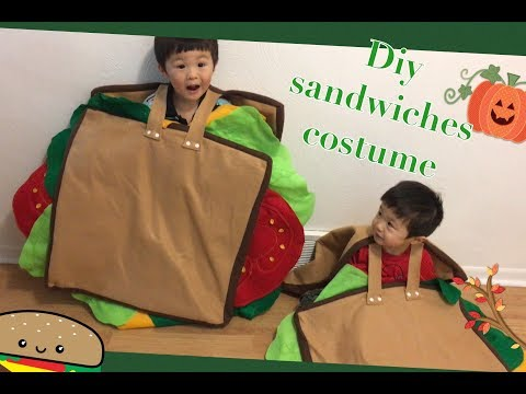 Diy sandwiches costume kids Handmade Halloween costume # sewing project No.17