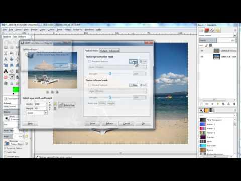 Content-aware resizing in GIMP Liquid rescale
