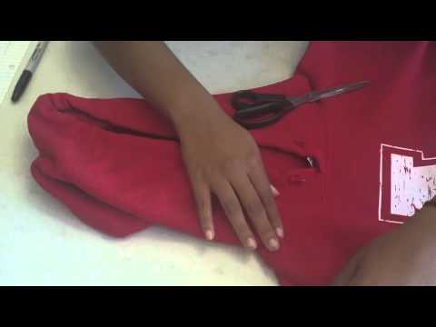 How to cut a hooded sweatshirt