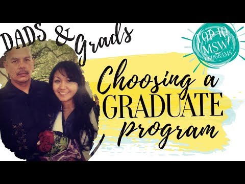 Grad School Advice || How to choose an MSW program??