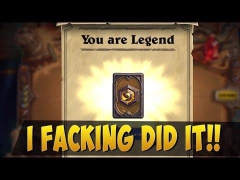 I DID IT! LEGEND RANK HEARTHSTONE