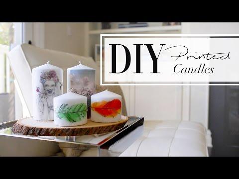 DIY Printed Candles | ANN LE & WhatsUpMoms